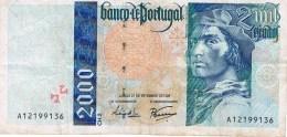 Portugal , 2000 Escudos , 21 - 09 - 1995 , Pick 189 , Circulated - Portugal