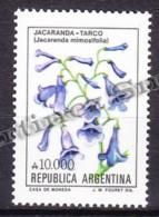 Argentina 1990 Yvert 1725, Definitive, Flowers - MNH - Neufs