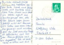 Spanien Andrax Puerto De Andraitx TGST 1991 45 P. König AK: La Lonja Kutsche Palmen - Poststempel - Freistempel
