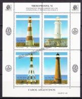 Argentina 1992 Yvert BF 54, Iberoprenfil '92, Argentina Lighthouses - MNH - Argentina