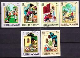South Arabia - Arabie Saoudite - Fujeira - Fujairah - 1967 Michel 186- 91, Oriental Fairy Tale - MNH - Arabia Saudita