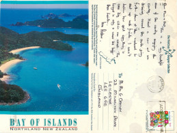 Bay Of Islands, New Zealand Postcard Posted 1993 Stamp - New Zealand