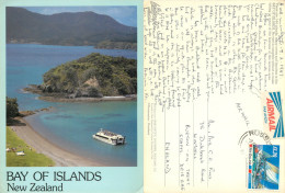 Bay Of Islands, New Zealand Postcard Posted 1987 Stamp - New Zealand