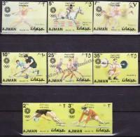 South Arabia - Arabie Saoudite - Ajman - 1972 Michel 1434- 41, Munich 1972 Olympic Games  - Hologram - Imperforated- MNH - Saudi Arabia