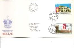 Timbres Sur Timbres ( FDC De Bélize De 1979 à Voir) - Stamps On Stamps