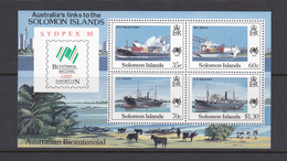 Solomon Islands 1988 Sydpex 88 Miniature Sheet MNH - Schiffe
