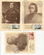 3 Cartes Nelle Calédonie, Centenaire De La Présence Française 1953, Fevrier Des Pointes, Douarre, Bruni D'Entrecasteaux - Nouvelle-Calédonie