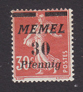 Memel. Scott #57, Mint Hinged, Sower Surcharged, Issued 1922 - Memel (1920-1924)