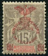Nouvelle Caledonie (1903) N 73 * (charniere) - Unused Stamps