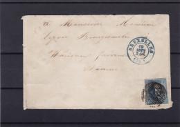 N° 7 Bien Margé Voisins / Lettre (lsc )  De BXL Vers Namur - 1851-1857 Médaillons (6/8)