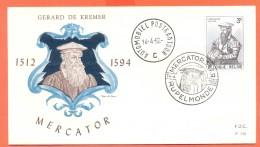 Belgie - FDC 1962 - Gerard De Kremer Mercator. - FDC