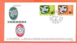 Belgie - BELGIUM FDC 16-9-1961 - COB 1193-1194 - Cachet De Anderlecht - Europa 1961 - FDC