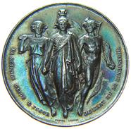 [NC] Médaille Argent - Société Libre D'Emulation Du Commerce Et De L'Industrie De La SEINE INF 40 Mm - 23,2 Gr. - Professionali / Di Società
