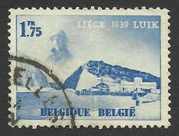 Belgium,  1.75 F. 1938, Sc # 321, Mi # 485, Used. - Belgium