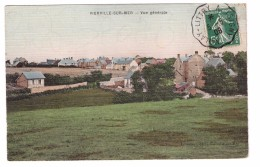 14 Vierville Sur Mer Vue Generale Cachet Molay Littry 1908 - Autres Communes