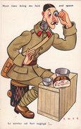 Carte Postale Ancienne Illustrée - Par Cass - Militaire - Humour - Le Service Est Fort Négligé!... - Cass