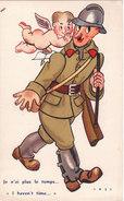 Carte Postale Ancienne Illustrée - Par Cass - Militaire - Humour - Ange - Je N'ai Plus Le Temps - Cass