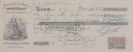 69 5423 LYON RHONE 1904 Eponge Eponges GAGNIERE Place Bellecour - Lettres De Change