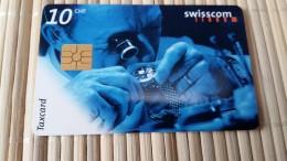 Phonecard Zwitserland 10 CHF  Used 2 Scans Rare - Switzerland