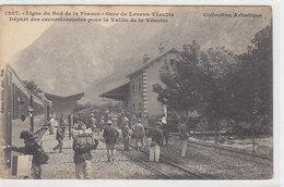 Gare De Levens-Vésuble - Départ Des Excursionnistes    (PA-4-100418) - Transport (rail) - Station