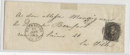 BELGIQUE - 20 JANVIER 1851 (COB N°3) - LETTRE De BRUXELLES  Pour Le DUC De BEAUFORT