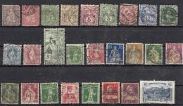 Suisse    Lot De 26 Timbres  Avant 1915 - Suisse
