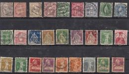 Suisse  Lot De 27 Timbres  Avant 1920 - Suisse
