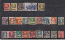 Suisse  Lot De 23 Timbres  Avant 1924 - Suisse