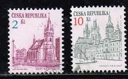 Tschechische Republik 1993, Michel# 13 + 17 O - Tschechische Republik