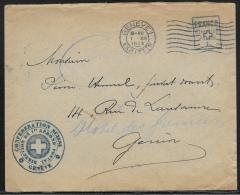 Suisse - SUISSE GENEVE LETTRE DE SERVICE FRANCO 1914 - Service