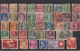 Suisse  Lot De 40 Timbres Avant 1940 - Suisse