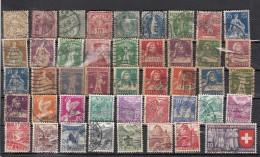 Suisse  Lot De 44 Timbres Avant 1940 - Suisse