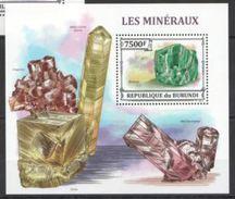 Burundi Minerals Minéraux Souvenir Sheet - Minéraux