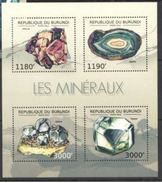 Burundi Minerals Minéraux Souvenir Sheetlet - Minéraux