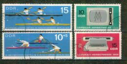 Foire De Leipzig, Poste De Télévision - ALLEMAGNE DE L'EST - Sport Olympique, Canoé Kayak - N° 903-904-907-908 - 1966 - Used Stamps