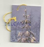 Etiquette Double Cadeaux. Sapin Enneigé. 5/6,5 Cm - Cartes Cadeaux