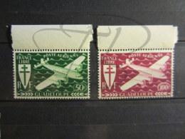 BEAUX TIMBRES DE POSTE AERIENNE DE GUADELOUPE N° 4 - 5 + BDF , XX !!! - Guadeloupe (1884-1947)