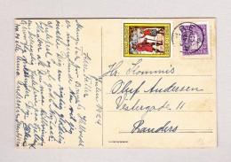 Dänemark Julen 1924 Ansichtskarte Motiv Berge Gesendet Nach Randers Mit Vignette Jugen 1624-1924 - 1913-47 (Christian X)