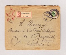 Dänemark Köbenhavn 29.9.1924 R-Brief Nach Beyreuth Syrien - 1913-47 (Christian X)