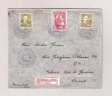 Dänemark Köbenhavn-Lufthavn 30.11.1946 Luftpost R-Brief Nach Rio De Janeiro - 1913-47 (Christian X)