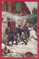 CPA Militaria - Attaque D'un Bureau De Douane Allemand Par Les Alpins Dans Les Hautes Vosges - War 1914-18