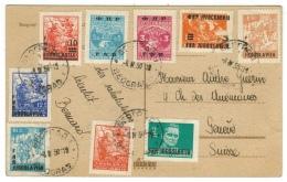 Yougoslavie // Rèpublique Fédérale Populaire De 1945-1992 // Carte De Beograd Pour La Suisse - 1945-1992 République Fédérative Populaire De Yougoslavie
