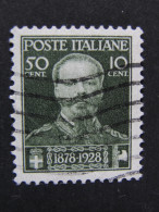 "ITALIA Regno -1929- ""Vittorio Emanuele"" C. 50  + 10 US° (descrizione) - 1900-44 Vittorio Emanuele III"