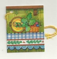 Etiquette Double Cadeaux. Assiette Et Houx. 5/6,5 Cm - Cartes Cadeaux