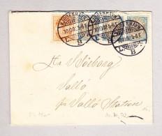 Dänemark KÖBENHAVN 10.10.1902 Brief Nach Vallo - 1864-04 (Christian IX)