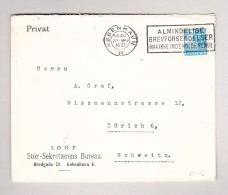 Dänemark KÖBENHAVN 20.5.1933 Brief Nach Zürich - 1864-04 (Christian IX)