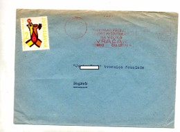 Lettre Flamme Ema Beograd - 1945-1992 République Fédérative Populaire De Yougoslavie