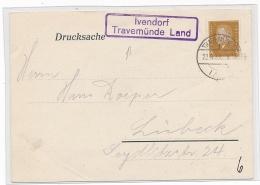 Landpost/ Ivendorf   -Stempel Beleg     ( G4225    ) Siehe Foto - Briefe U. Dokumente