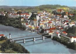 46 - PUY LEVEQUE : Vue Générale Et Les Deux Ponts - Jolie CPSM Dentelée Colorisée GF 1961 - Lot - Otros Municipios