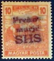 PREKOMURJE 1918-19 Croatie - Yougoslavie (Croatia – Yugoslavia,  Chorvatsko – Juhoslavia) Local Of Hongrie (Hungary, Mad - Carné